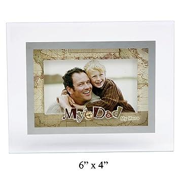 Fathers Day My Dad My Hero Photo Frame 6 X 4 Amazoncouk