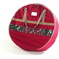 "CoverMates – 36"" Christmas Wreath Storage Bag – 3 Year Warranty- Red"