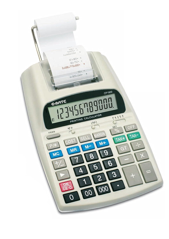 Calcolatrice Scrivente 12 Cifre Alimentazione Elettrica/Batteria CP1800 Pool Over