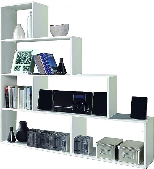 Esidra Libreria Design 4 scaffali 145 x 145 x 29 cm Bianco Lucido bifacciale