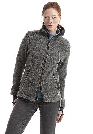 b46d34f31b4c hessnatur Wollfleece-Jacke für Sie aus reiner Bio-Schurwolle , grau , 40