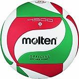 Molten - V5M4500, Pallone da pallavolo, colore: Bianco/Verde/Rosso