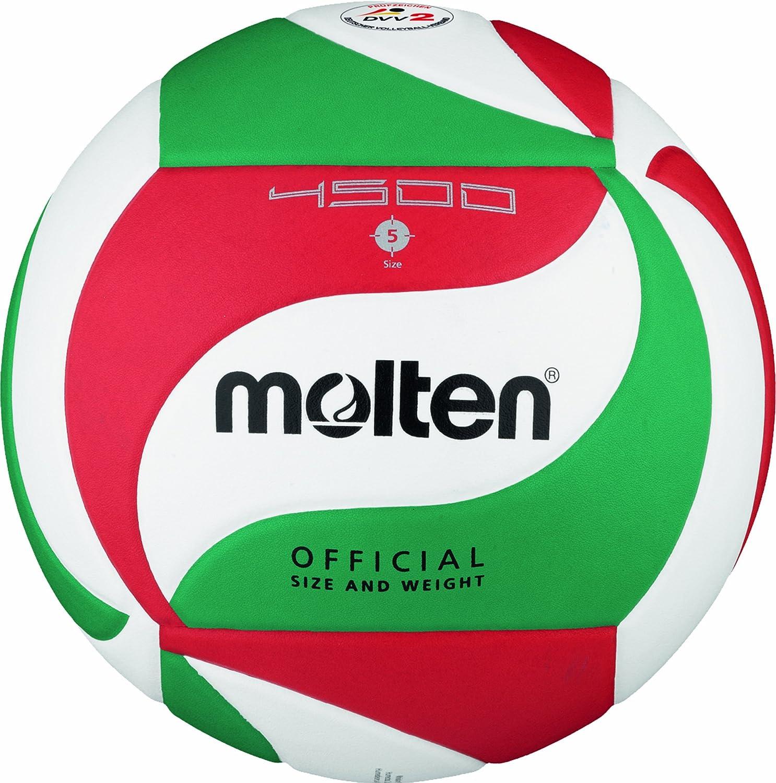 Molten Volleybal V5M4501 Weiß/Grün/Rot 5 V5M4500