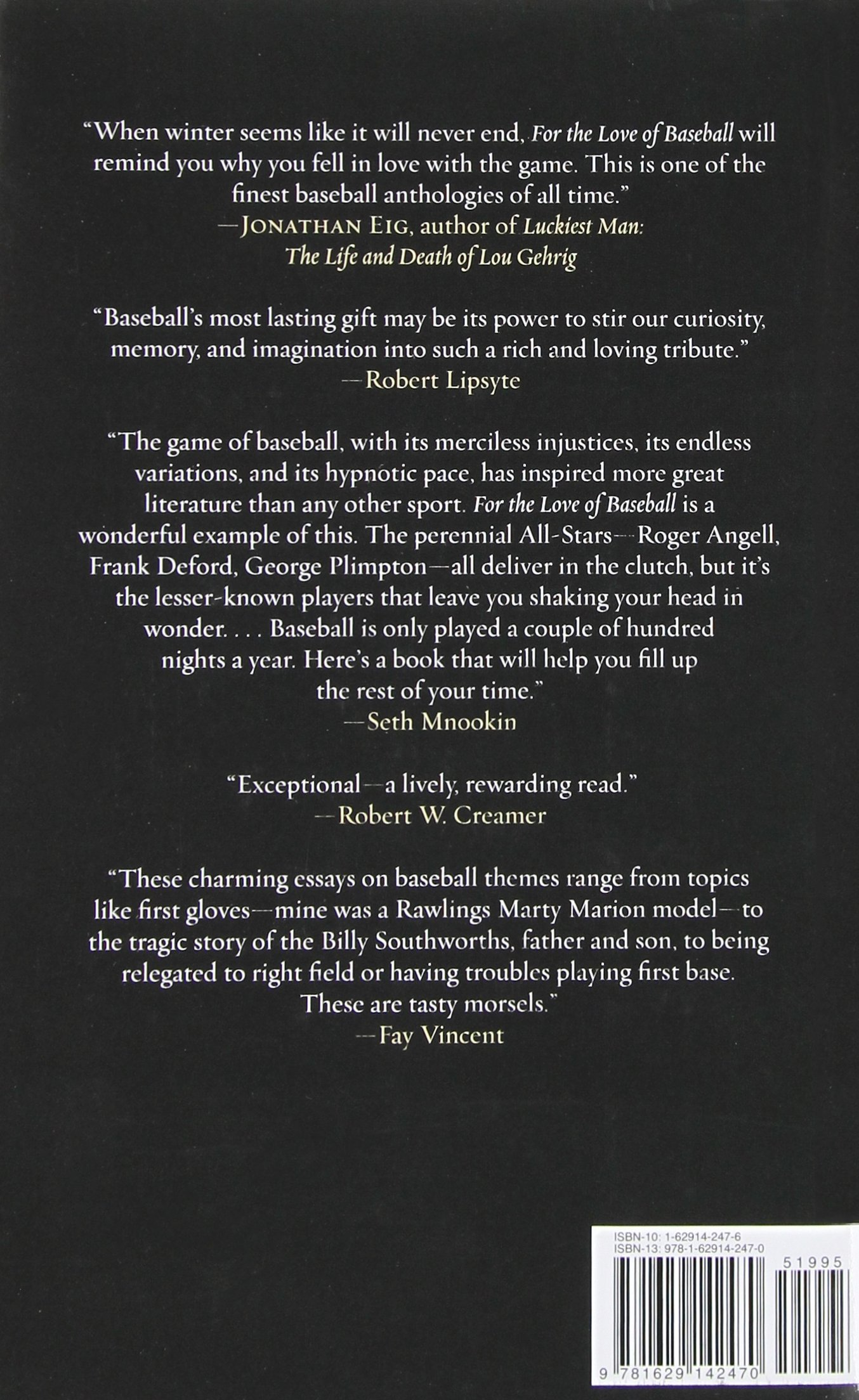 for the love of baseball a celebration of the game that connects for the love of baseball a celebration of the game that connects us all lee gutkind andrew blauner yogi berra 9781629142470 com books