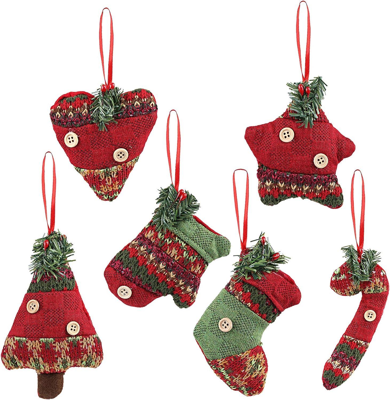 Kesote Conjunto de 6 Adornos de Árbol de Navidad Accesorios Decorativos de