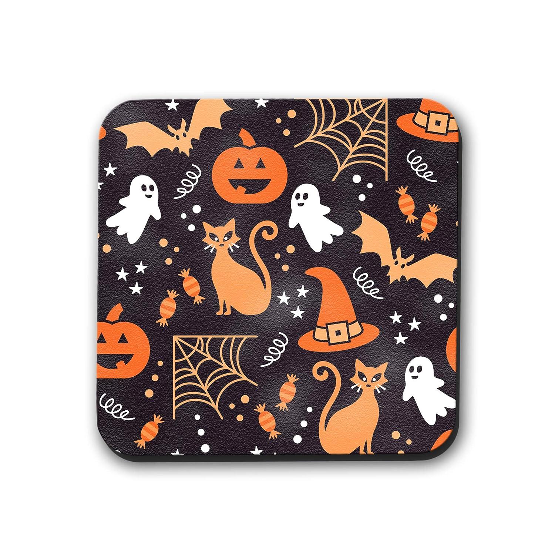 Cute Orange Halloween Icons Coasters