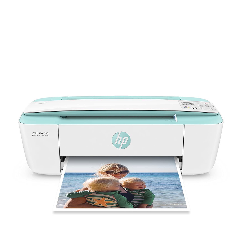 HP DeskJet 3730 Stampante Multifunzione, Instant Ink Ready, 4800 x 1200 dpi, Acqua Marina T8X01B