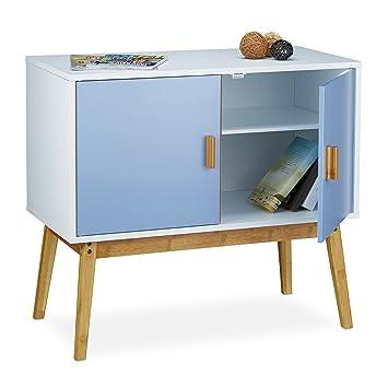 Relaxdays Sideboard Retro Im Skandinavischen Design HBT: 72 X 80,5 X 40,