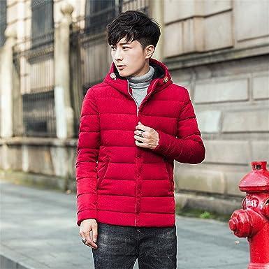 d48613b2d11 Marck Sch Fashion NEW Winter Jacket Warm Down Coat Korean Men Thicken  Clothing Slim Fit Zip