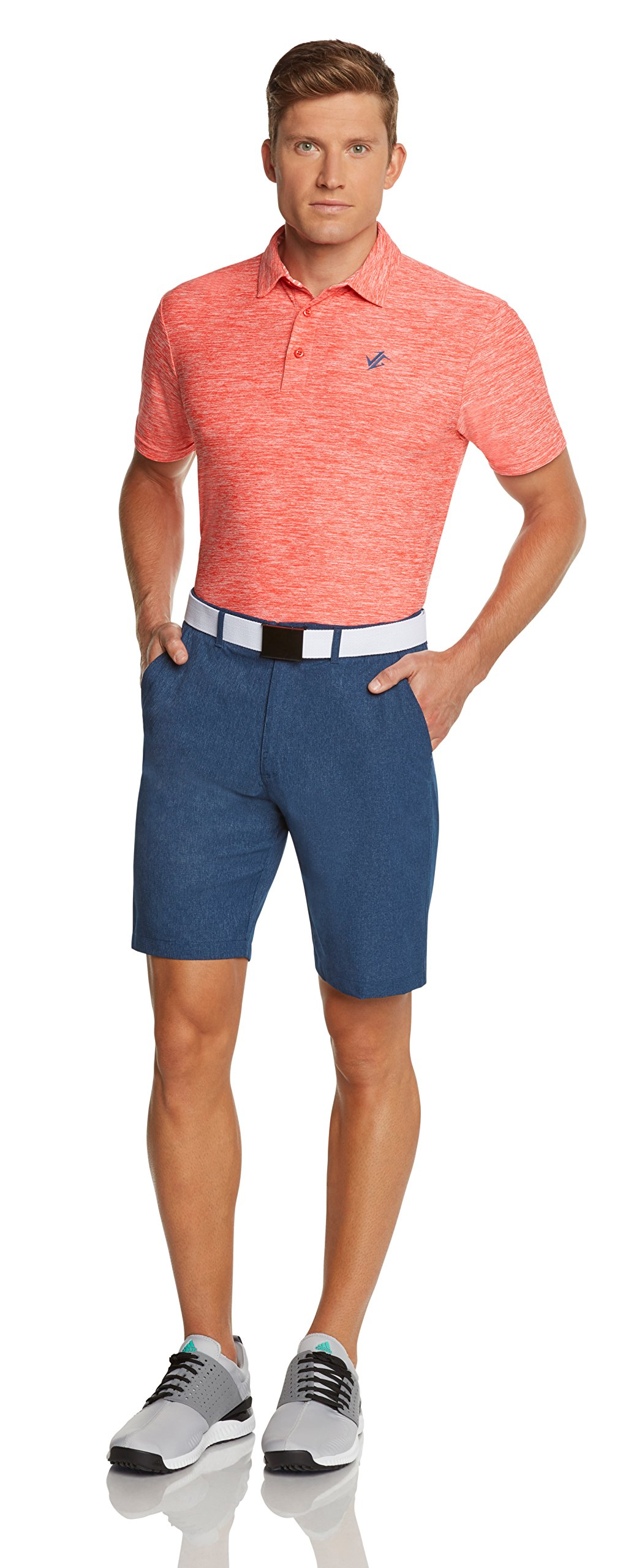 Jolt Gear Dry Fit Golf Shorts for Men – Casual Mens Shorts Moisture Wicking - Men's Chino Shorts with Elastic Waistband by Jolt Gear (Image #5)