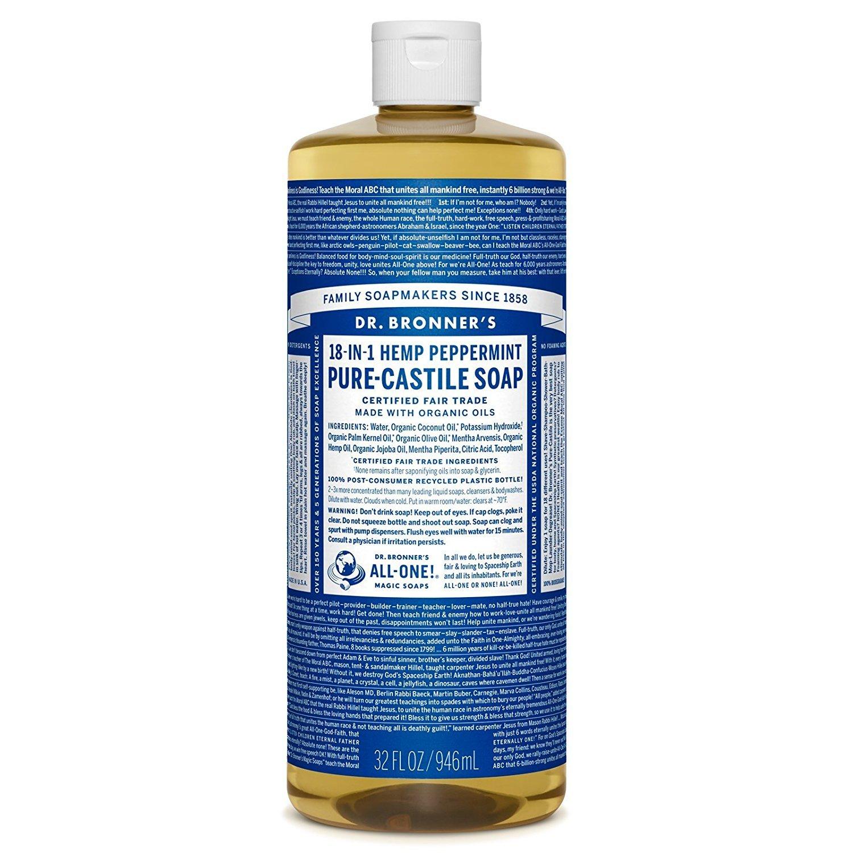 Dr. Bronner's Peppermint Castille Soap, 32 Oz Dr. Bronner' s