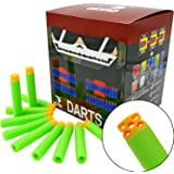 EKIND 200 Pcs 7.2cm New Design TPR Hollow Out Soft Head Darts Refill Foam Bullet for Nerf N-strike Elite Guns