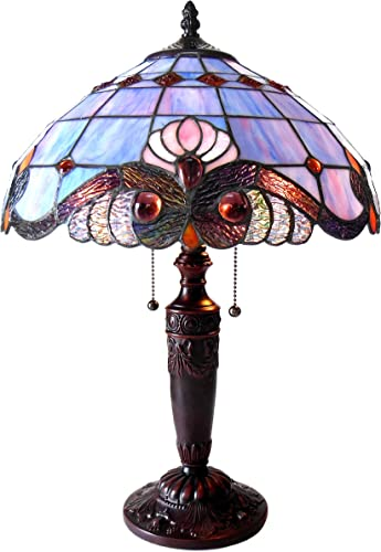 Chloe CH15063LV15-TL2 14.5 Shade Shelly Tiffany-Style 2 Light Victorian Table Lamp, 20.25 x 14.5 x 14.5, Multicolor