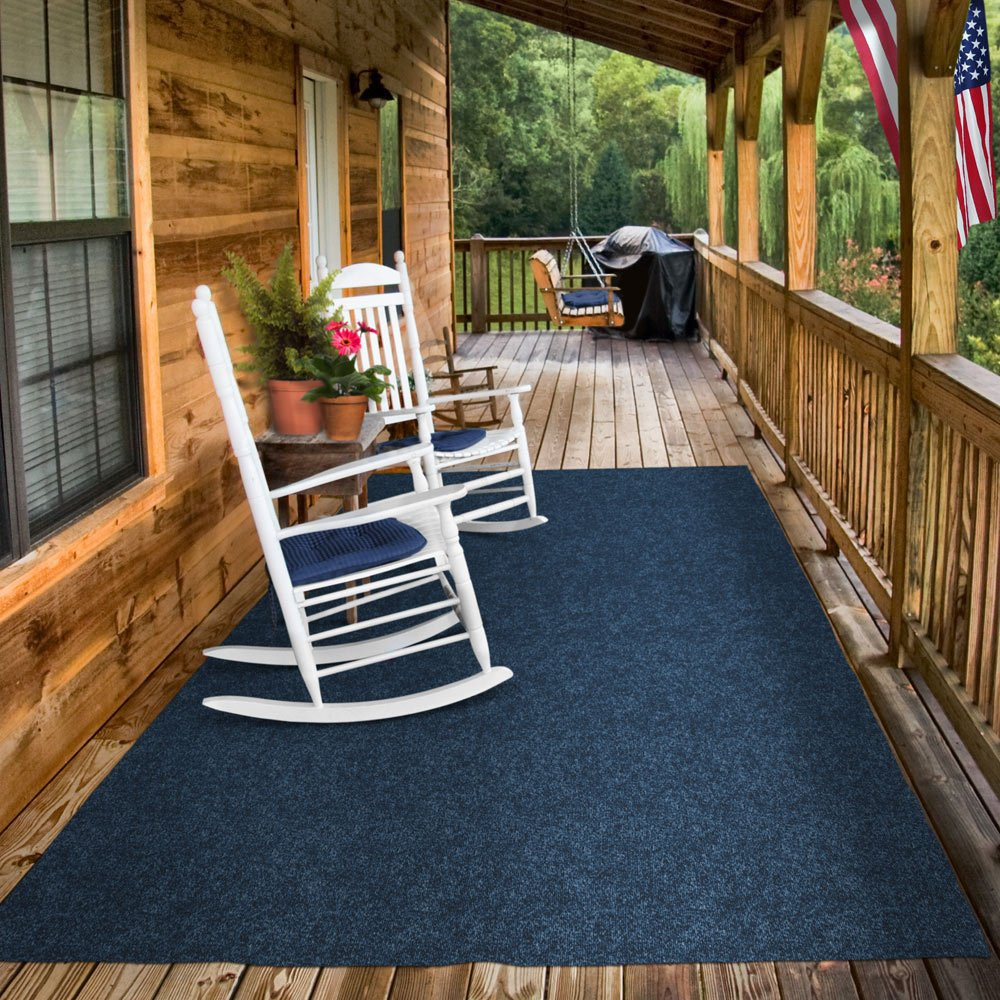 Delicieux Amazon.com: Indoor/Outdoor Carpet With Rubber Marine Backing   Blue 6u0027 X  15u0027   Several Sizes Available   Carpet Flooring For Patio, Porch, Deck,  Boat, ...