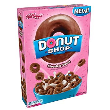 Kelloggs Donut Shop, Breakfast Cereal, Chocolate Donuts, ...