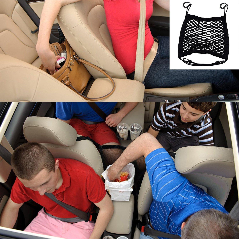Children Kids Disturb Stopper,Universal Car Truck Storage Luggage Hooks Hanging Organizer Holder Seat Bag Mesh Net,Storage Add On Car Armrests Seats Purse Storage Organizer Double Layer