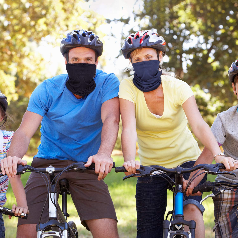 6 Pieces Summer Face Mask UV Protection Neck Gaiter Scarf Sunscreen Breathable Bandana