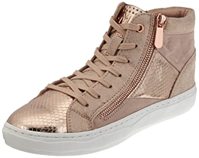 25202, Baskets Hautes Femme, Rose (Rose Comb), 36 EUMarco Tozzi