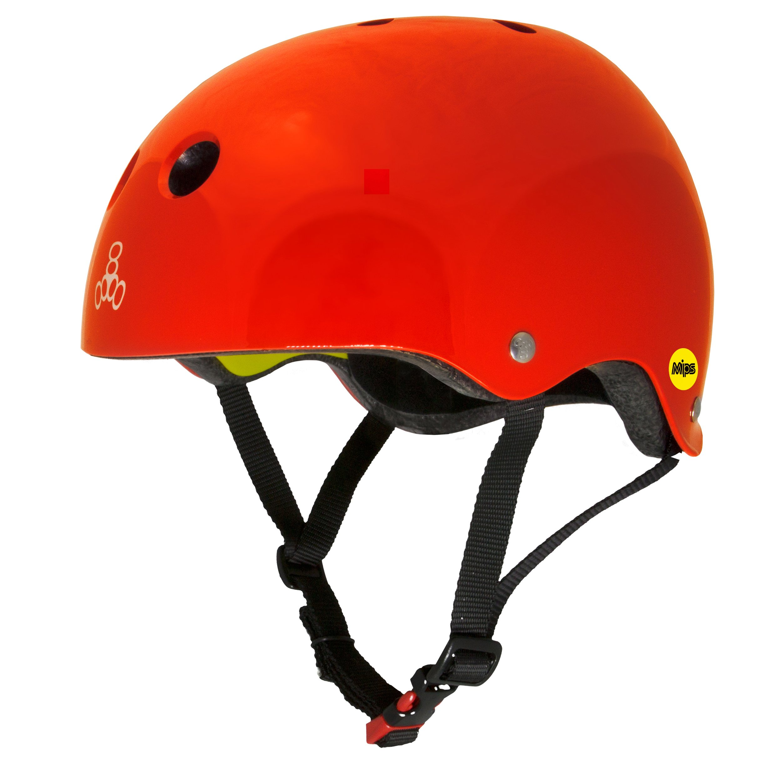 Triple 8 Dual Certified MIPS Helmet for Bike, Skate, Longboarding, BMX, and Commuting, Red Gloss, XS/S