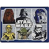 """Star Wars Rug Classic HD Digital Star Wars Bedding Darth Vader, Yoda, Chewbacca, R2D2 Wall Decals, 40""""x52"""""""