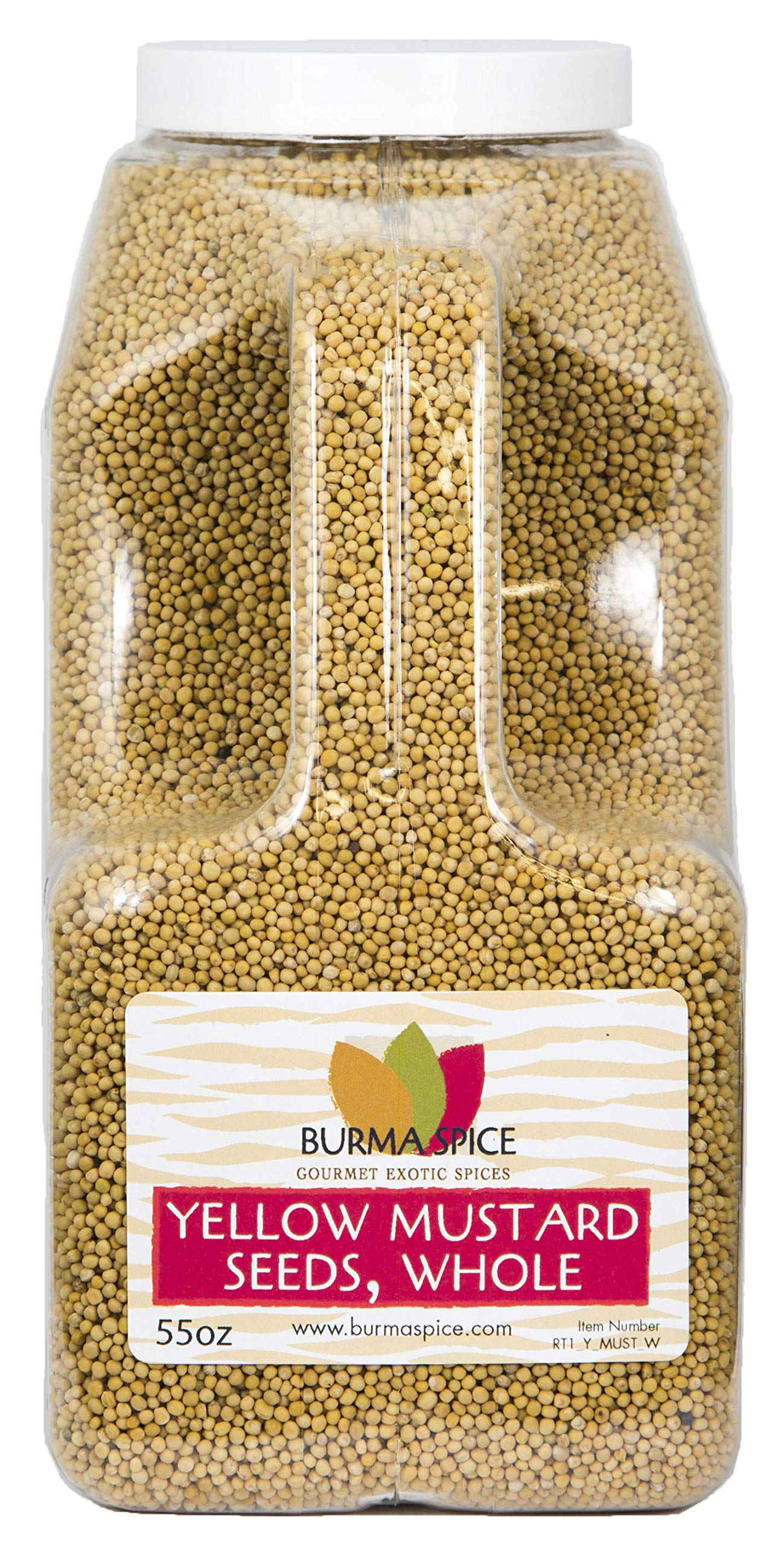 Yellow Mustard Seed : Whole, Dried, Spice, Herb, Seasoning, Indian Cuisine, Kosher (55oz.)