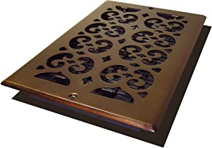 Decor Grates SP610W-RB Scroll Plated Register, 6-Inch by 10-Inch, Rubbed Bronze