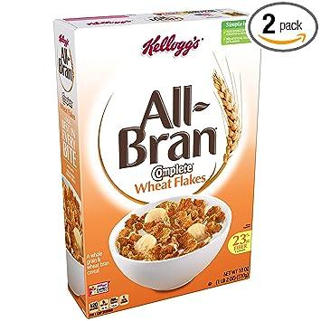 amazon com kellogg s all bran complete wheat flakes breakfast