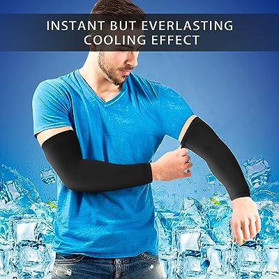 4 Pairs Details about  /ArmoRay Arm Sleeves for Men or Women Black+white+aqua+orange