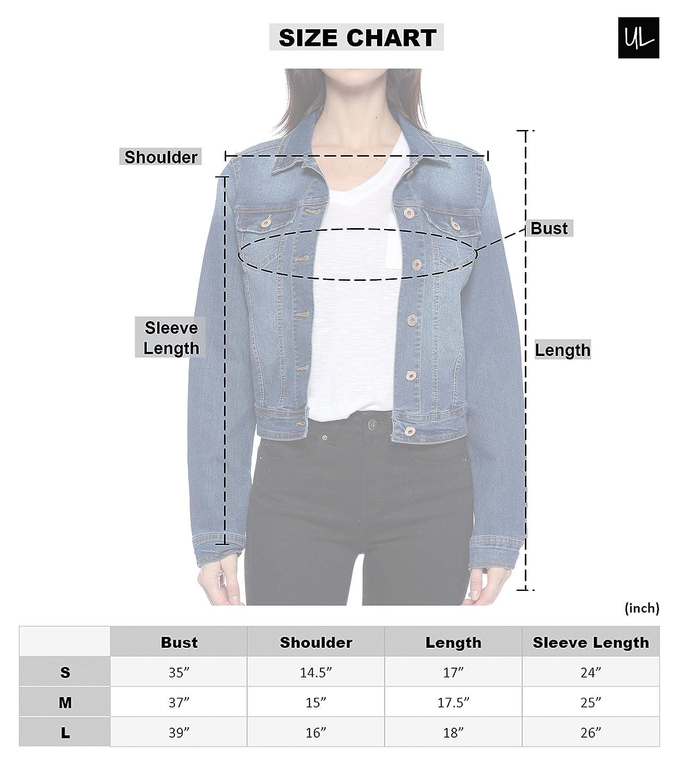 Amazon.com: Urban Look - Chaqueta vaquera para mujer: Clothing