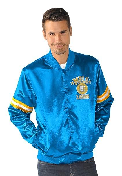 Amazon.com   NBA Men s Retro Satin Full Snap Jacket   Sports   Outdoors e7abd7add
