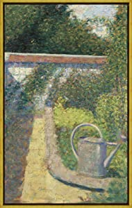Berkin Arts Framed Georges Seurat Giclee Canvas Print Paintings Poster Reproduction(The Watering Can Garden at The Raincy)#XLK
