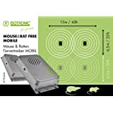 ISOTRONIC Long Life Battery Operated Sonic Rat and Mouse Repellent Set of 2 Ultrasonic Rat & Mice Repeller