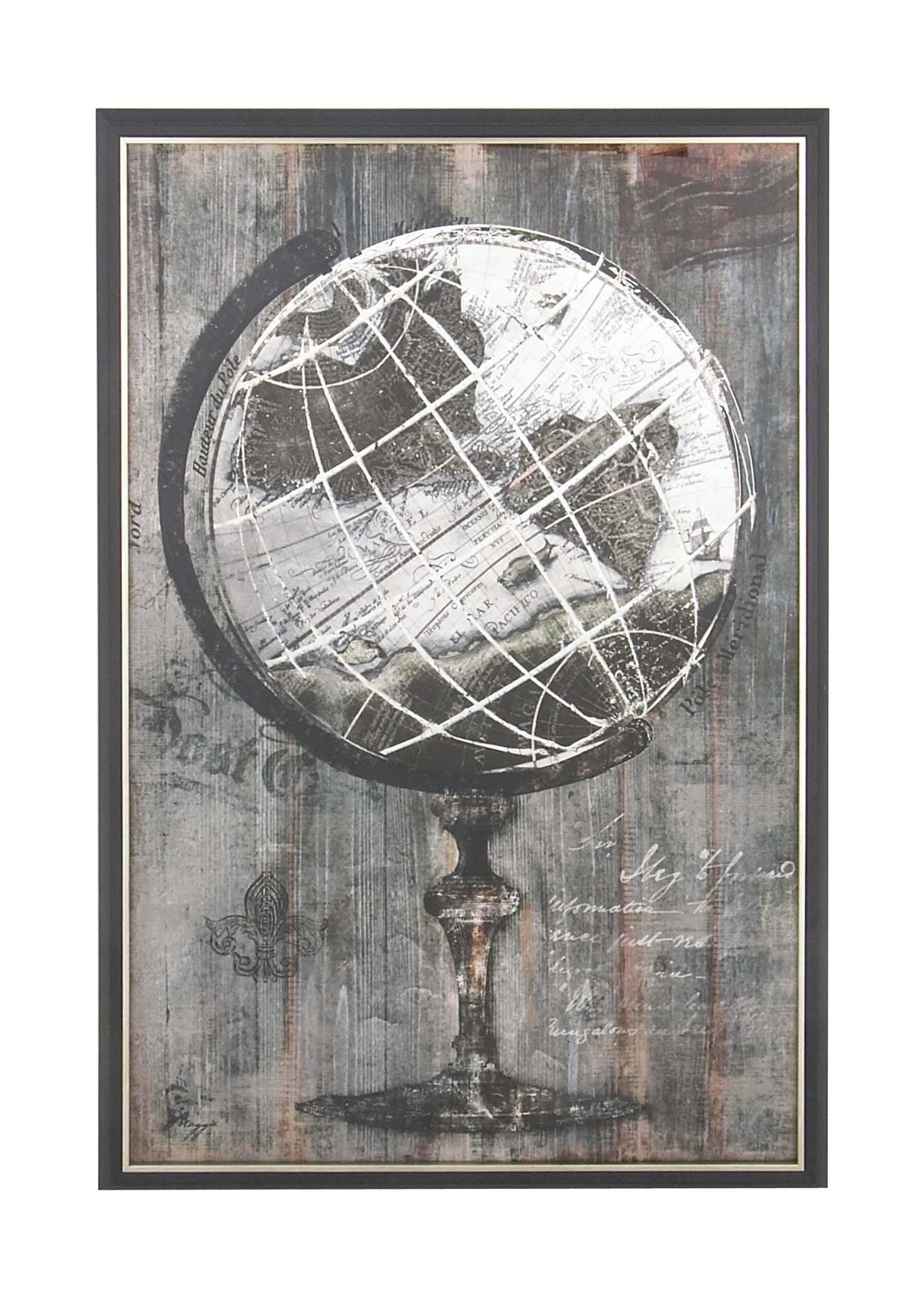 Deco 79 36660 Canvas Wall Art Black/Gray by Deco 79
