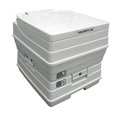 Sanitation Equipment Visa Potty Model: 248 18 Liter with 2-level Indicators : Rv Toilets : Sports & Outdoors
