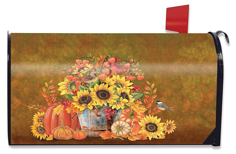 Briarwood Lane Autumn Arrangement Floral Mailbox Cover Fall Pumpkins Standard