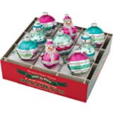 "Shiny Brite Vintage Celebration 2.5"" Round and Figure Ornaments - Set of 9"