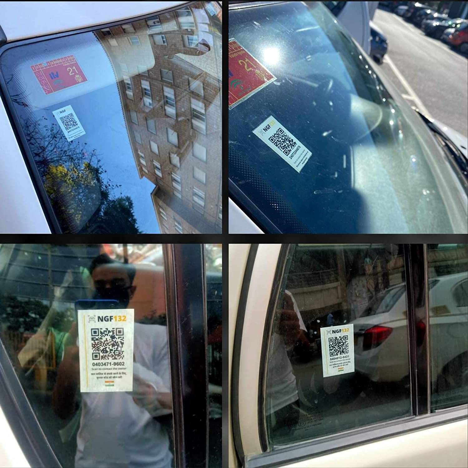 NGF132 Contact Stickers for Car and Bike Owners. People can Send You SMS  Without Getting Your Phone Number. 2 Car +1 Bike Stickers.: Amazon.in: Car  & Motorbike