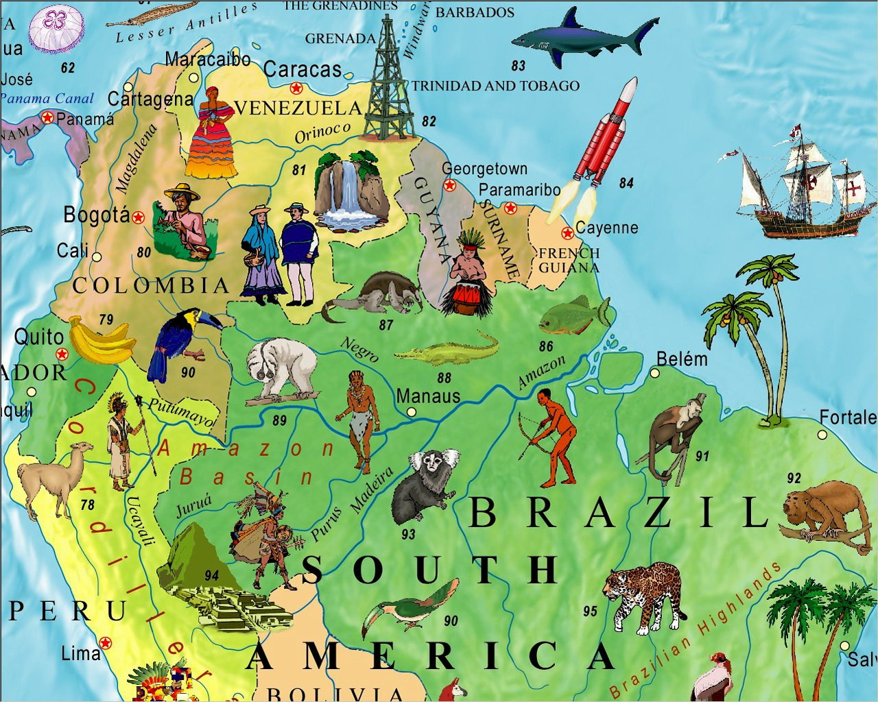 Illustrated map of the world for kids childrens world map akros illustrated map of the world for kids childrens world map akros 8601400405505 amazon books gumiabroncs Image collections