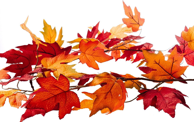 CraftMore Fall Maple Leaf Garland 6 Feet