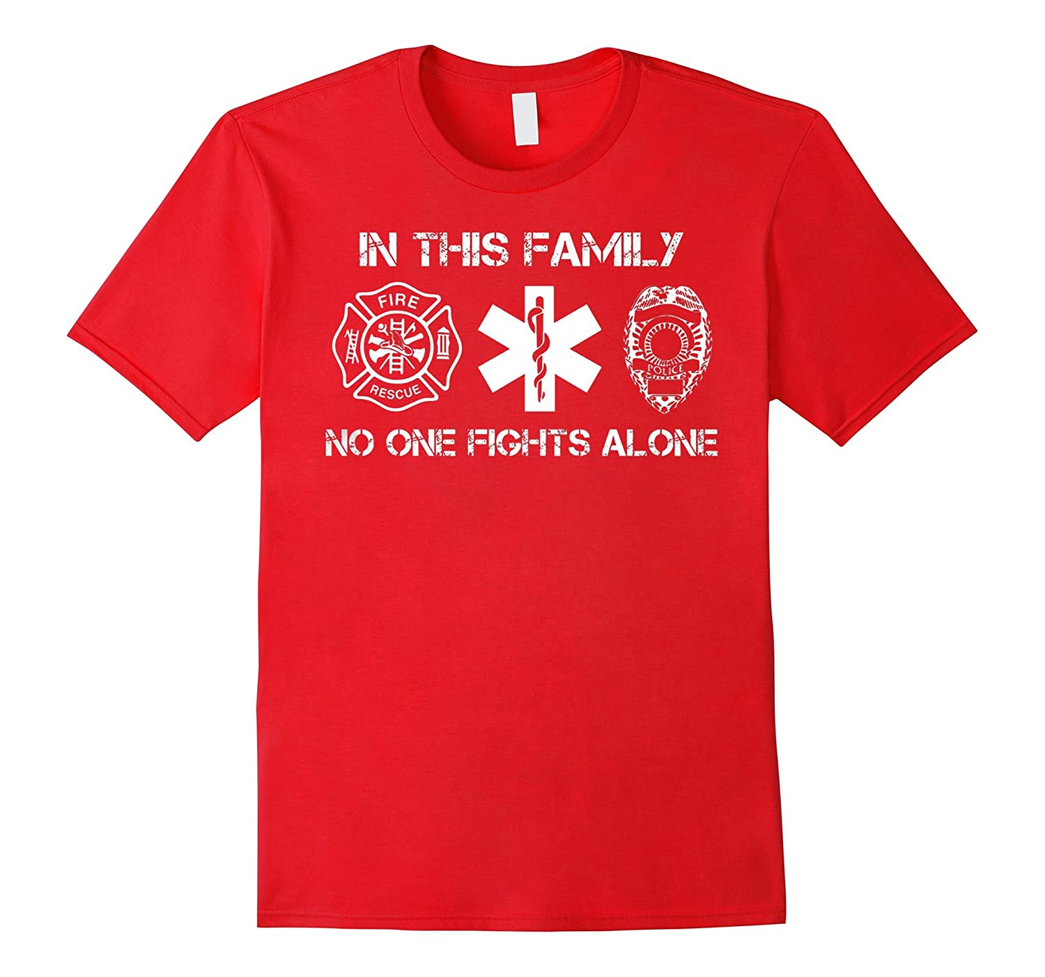 FireFighter Shirt In This Family No One Fights Alone T Shirt-Vaci