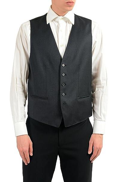 285f7808 Amazon.com: Hugo Boss Westin Men's Gray 100% Wool Button Up Dress ...