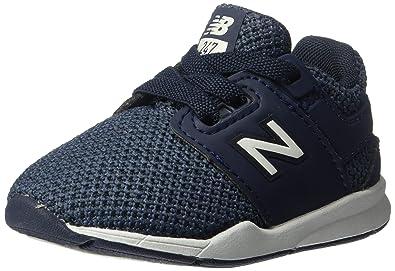 adaa00ad858db New Balance Boys' 247v2 Running Shoe, Navy/White, 2 M US Infant
