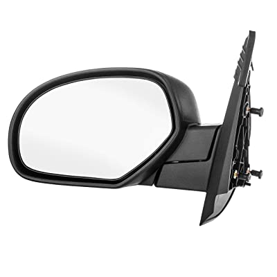 Dependable Direct Left Driver Side Textured Non-Heated Manual Folding Manual Operating Mirror for 07-13 Chevy Silverado. 2008-2014 GMC Sierra - Parts Link #: GM1320332: Automotive