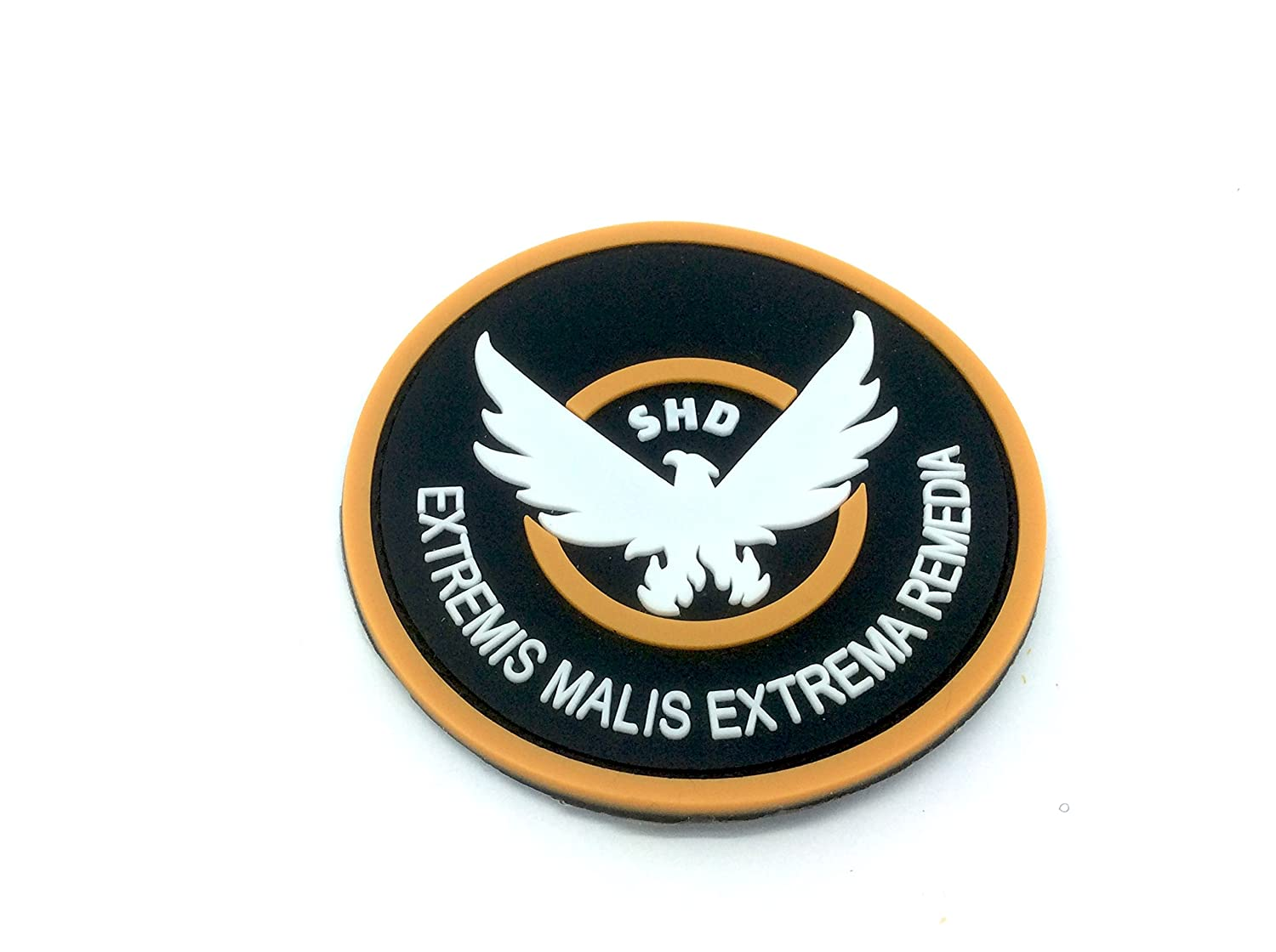The Division SHD Extremis Malis Extrema Remedia Tondo PVC Airsoft Paintball Squadra Patch Patch Nation