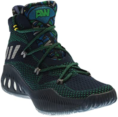 finest selection 1e5e7 30d7b adidas Men s Crazy Explosive Primeknit Basketball Shoe Navy Grey Green Size  8 ...