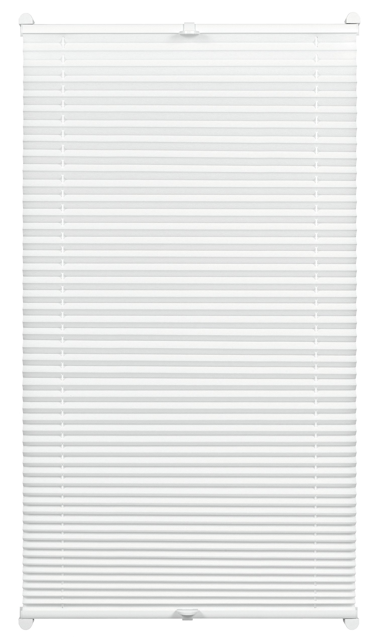 Gardinia Pleated with a Thermal Back for Clamping, High Light Reflection, Energy Saving, Mounting Kit Included, EASYFIX Thermo-Pleated Blind with Two Operating Rails, White, 40 x 130 cm (WxH) by Gardinia