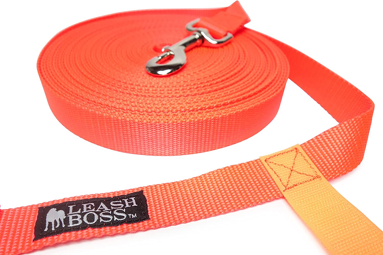 1 Inch Nylon Long Dog Training Leash with Storage St... Leashboss Long Trainer