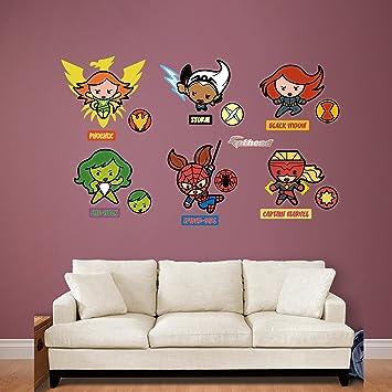 Amazoncom Fathead Kawaii Marvel Girl Superheroes Collection Real - Girl superhero wall decals