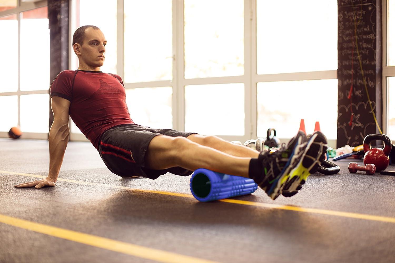 Qualit/à Premium Riabilitazione e Rilascio miofasciale PDF Workout Nero POWRX Foam Roller Rullo da Massaggio Ottimo per Trigger Point