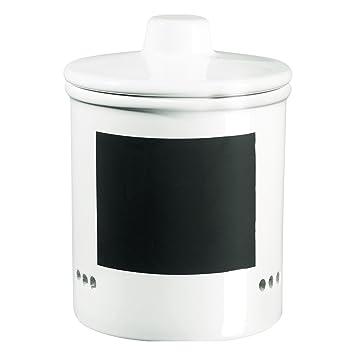 ASA 50719147 Zwiebeltopf Keramik, 14 x 14 x 15 cm, weiß / schwarz ...